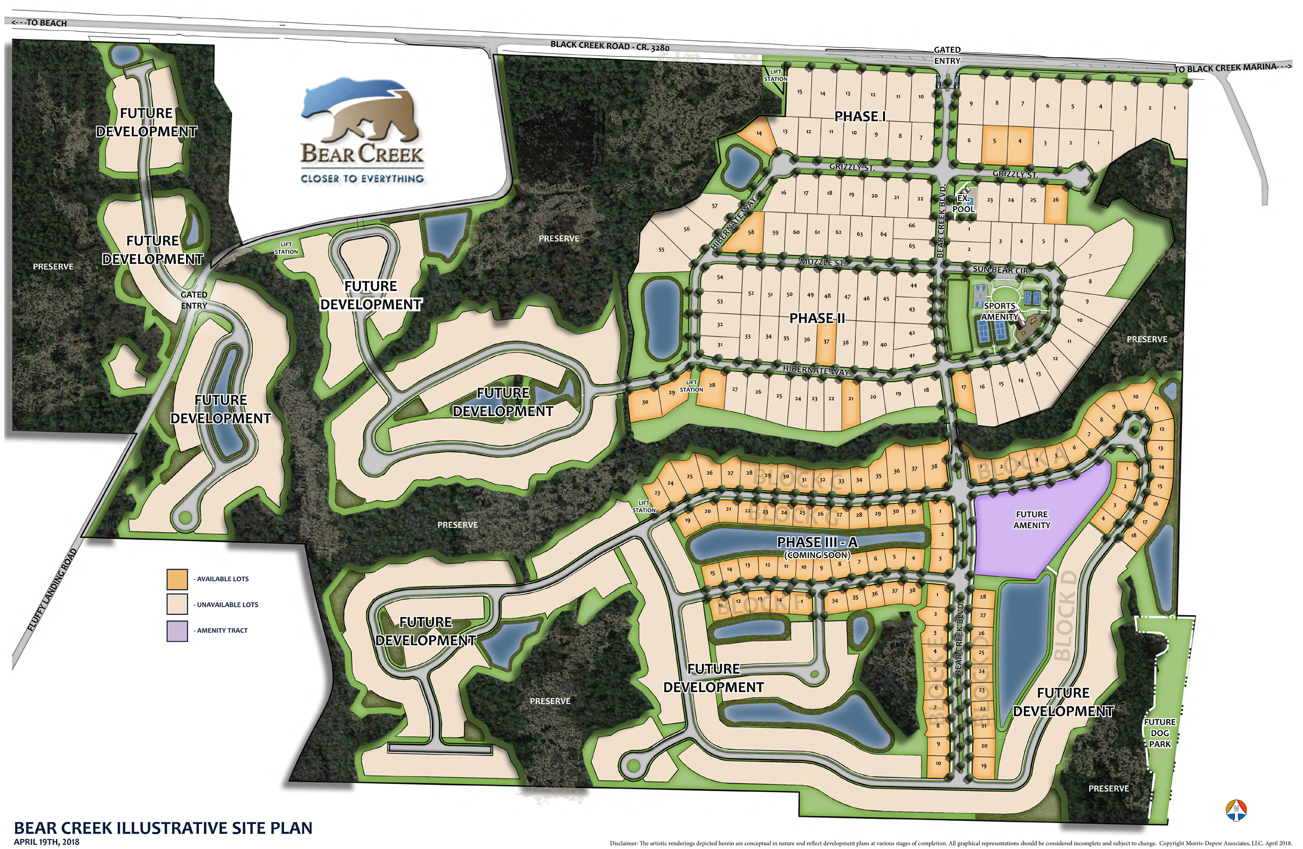 Bear Creek Development Map
