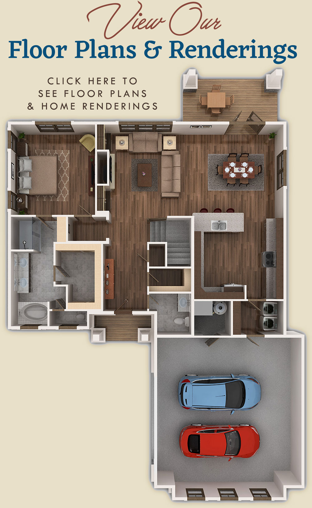 Click here to view floor plans, home renderings and amenities of our new homes South Walton / Freeport